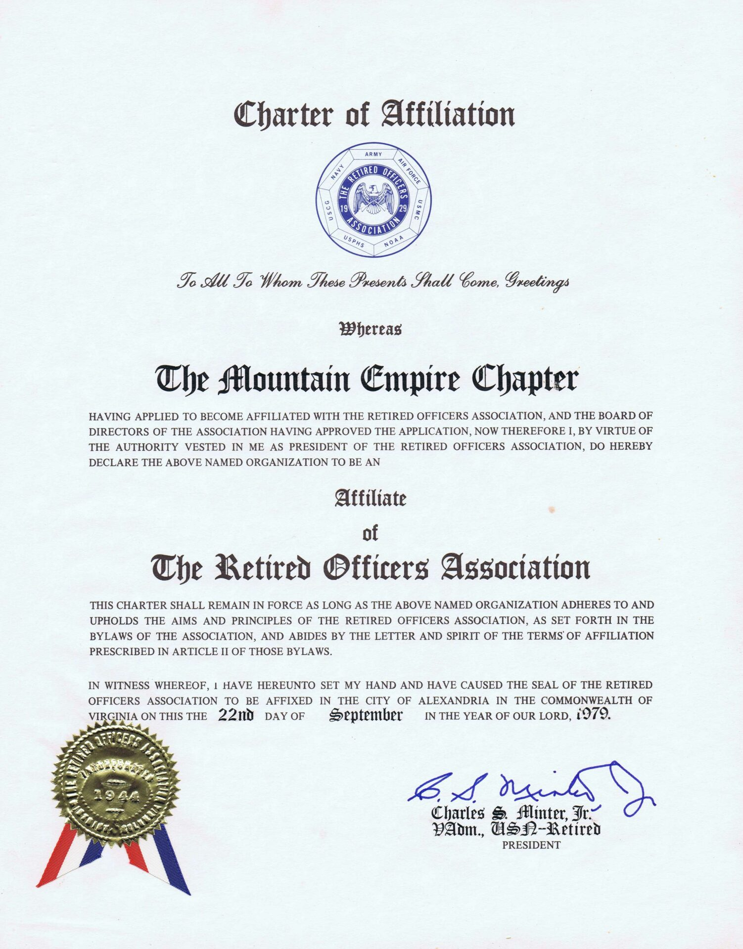 Mountain Empire Chapter Affiliate of The Military Officers Association of America